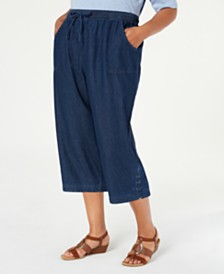 Karen Scott Plus Size Kiera Capri Jeans, Created for Macy's