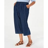 Macys deals on Karen Scott Plus Size Kiera Capri Jeans