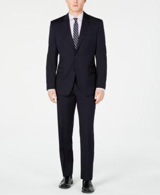 Men's Slim-Fit UltraFlex Stretch Navy Solid Suit Jacket