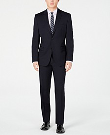 Men's Slim-Fit UltraFlex Navy Solid Suit Separates