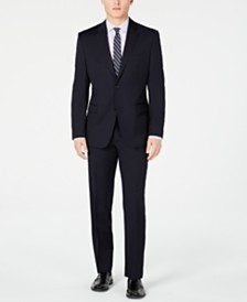 Lauren Ralph Lauren Men's Slim-Fit UltraFlex Navy Solid Suit Separates