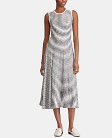 Lauren Ralph Lauren Striped A-Line Cotton Shirtdress