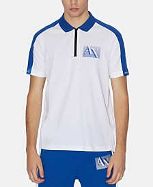 Armani Exchange Men's Zip-Front Polo