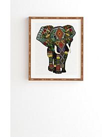 Floral Elephant Framed Wall Art