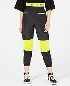 Neon-Mesh Jogger Pants