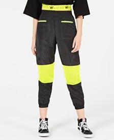 Waisted Neon-Mesh Jogger Pants