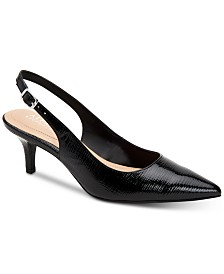Alfani Women's Step 'N Flex Babbsy Pointed-Toe Slingback Pumps, Created for Macy's