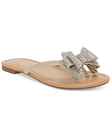I.N.C. Women's Mabae Bow Flat Sandals, Created for Macy's