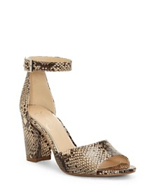Jessica Simpson Sherron Two-Piece Block-Heel Sandals