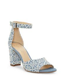Jessica Simpson Sherron Two-Piece Block-Heel Sandals