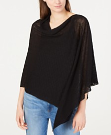 Eileen Fisher Draped Knit Poncho