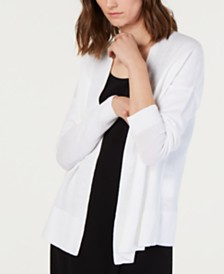 Eileen Fisher Linen & Cotton Simple Cardigan