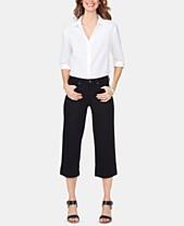 de297411f05d NYDJ Tummy-Control Wide-Leg Capri Jeans