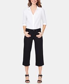 NYDJ Tummy-Control Wide-Leg Capri Jeans