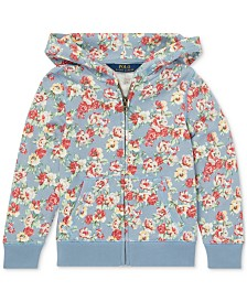 Polo Ralph Lauren Toddler Girls Floral Cotton French Terry Hoodie