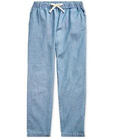 Polo Ralph Lauren Big Girls Indigo Cotton Chambray Pants
