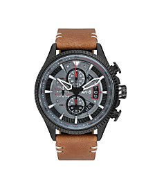 AVI-8 Men's Japanese Quartz Chronograph Hawker Hunter Avon Edition, AV-4064-03, Brown Leather Strap Watch 45mm