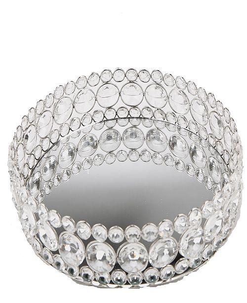 Mind Reader Large Round Crystal Mirror Tray