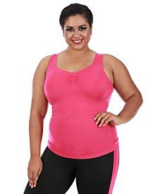 InstantFigure Women's Compression Racer Back Tank Top, Online Only