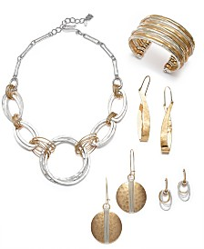 Robert Lee Morris Soho Two-Tone Sculptural Jewelry Separates