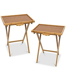 Lipped Snack Tables, Set of 2