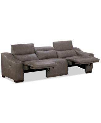 Ruthin 3-Pc. Leather Sectional Sofa with 2 Power Recliners