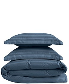 Cooling Cotton Satin Stripe King Duvet Set