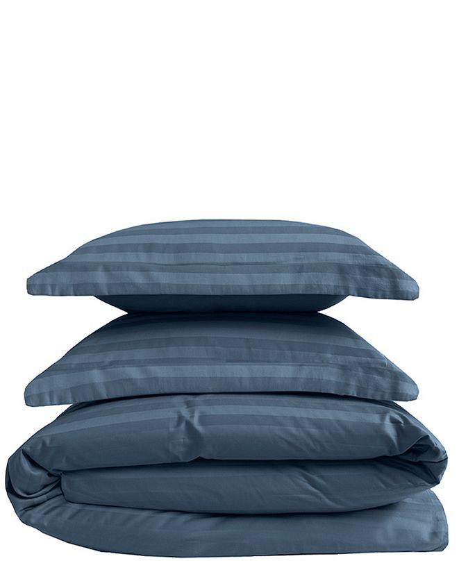 Elite Home Cooling Cotton Satin Stripe King Duvet Set