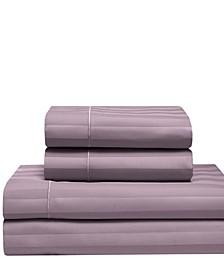 Cooling Cotton Satin Stripe King Sheet Set