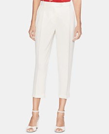Vince Camuto Pleated Cuffed Cropped Pants