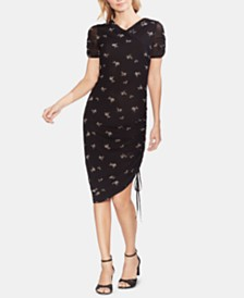 Vince Camuto Printed Ruched Dress, Created for Macy's