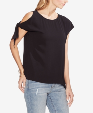 Vince Camuto Tops COLD-SHOULDER TIE-SLEEVE TOP