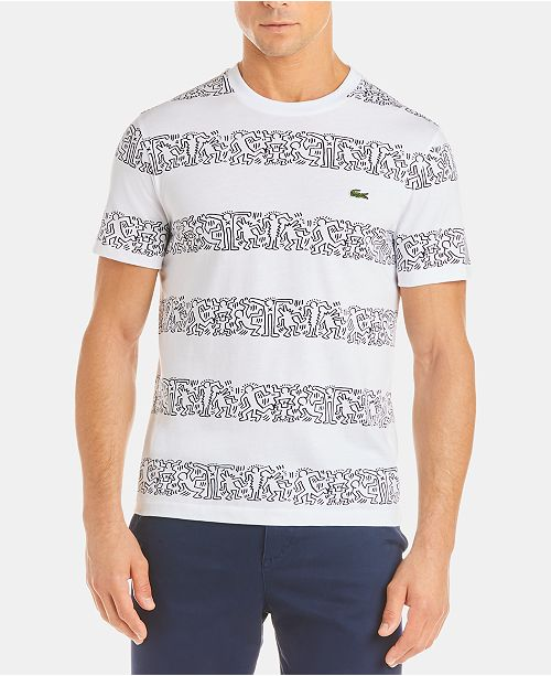 96e7680d8aa Lacoste x Keith Haring Men's Printed Stripes Jersey T-Shirt ...
