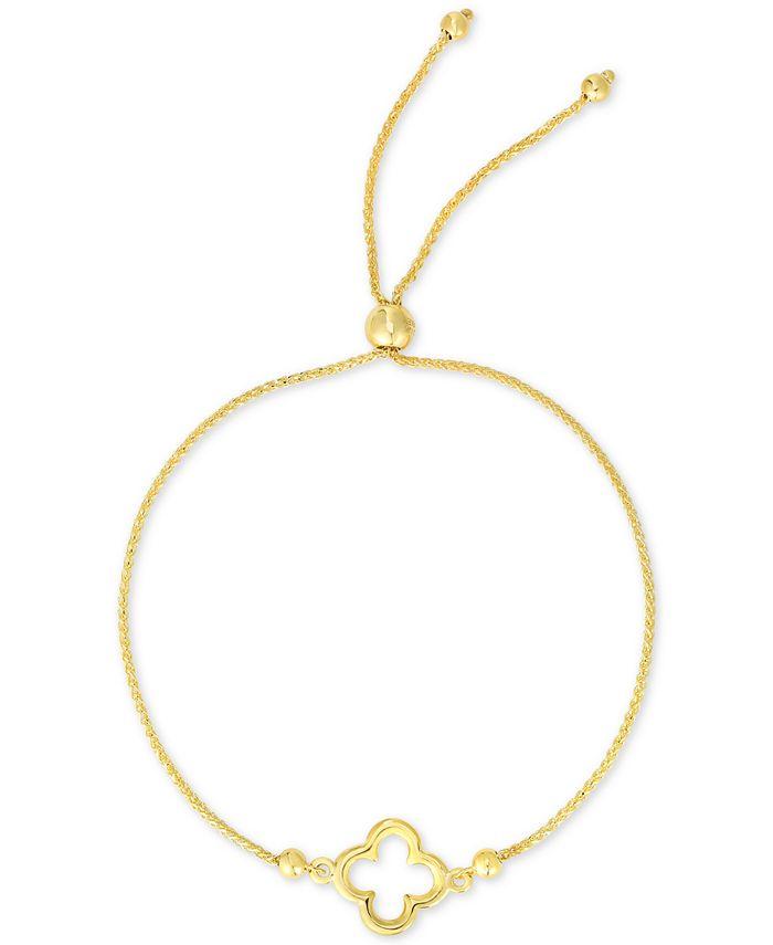 Macy's - Clover Bolo Bracelet in 10k Gold