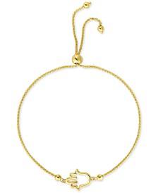 Hamsa Bolo Bracelet in 10k Gold