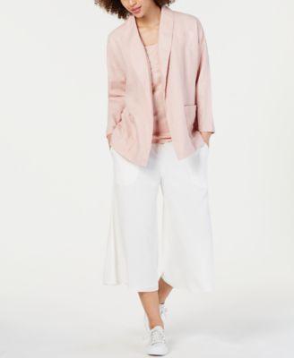 Organic Linen Open-Front Blazer