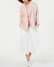 Eileen Fisher Open-Front Jacket & Camisole