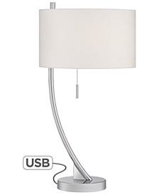 Slanted Column Table Lamp