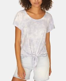 Sanctuary Lou Solid Tie-Front T-Shirt