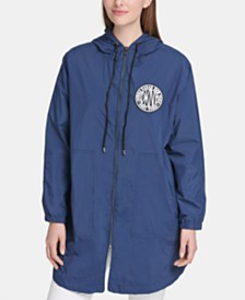 DKNY Hooded Logo-Print Jacket