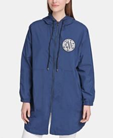 DKNY Hooded Logo-Print Jacket
