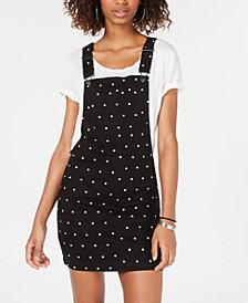 Tinseltown Juniors' Polka-Dot Skirtall Dress