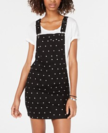 Tinseltown Juniors' Polka-Dot Skirtall Dress