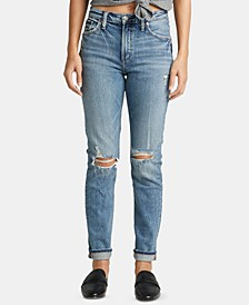 Frisco Ripped Straight-Leg Jeans