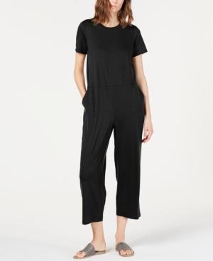 Eileen Fisher Suits ROUND-NECK TENCEL JUMPSUIT, REGULAR & PETITE