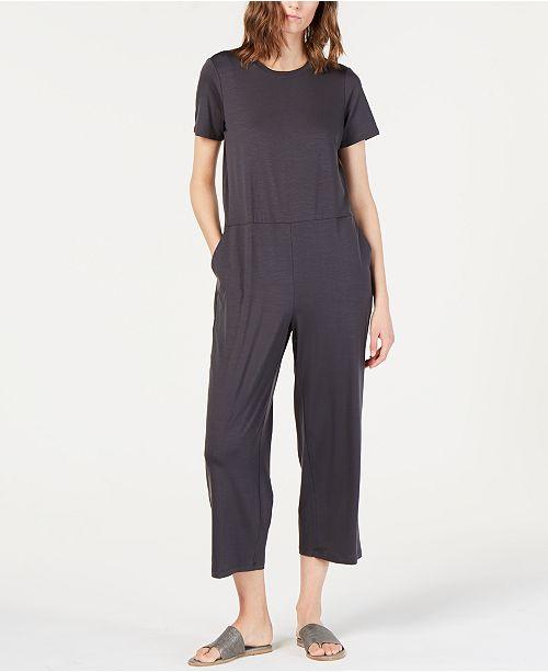 Eileen Fisher Round-Neck Tencel ™ Jumpsuit, Regular & Petite