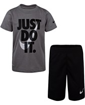 3617876f Nike Little Boys 2-Pc. Dri-FIT Just Do It Graphic T-