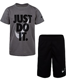 Nike Little Boys 2-Pc. Dri-FIT Just Do It Graphic T-Shirt & Shorts Set