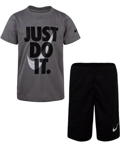 Nike Toddler Boys 2-Pc. Dri-FIT Just Do It Graphic T-Shirt & Shorts Set