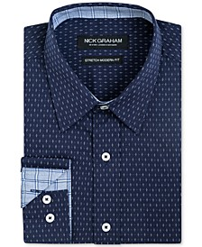 Men's Slim-Fit Dot-Print Shirt